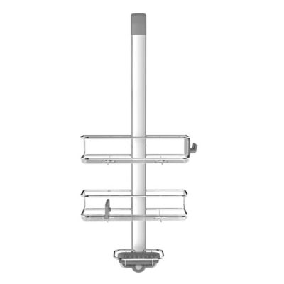 simplehuman® Over-the-Door Shower Caddy in Stainless Steel Buy Over the Door | Bed Bath \u0026 Beyond