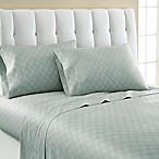 Laundry By Shelli Segal® 300-Thread- Count Winding Ogee Cotton Sateen King Sheet Set in Blue