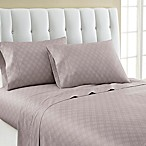 Laundry By Shelli Segal® 300-Thread- Count Winding Ogee Cotton Sateen Queen Sheet Set in Purple