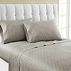 Laundry By Shelli Segal® 300-Thread- Count Winding Ogee Cotton Sateen Queen Sheet Set in Khaki
