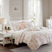 Madison Park Serendipity King/California King Coverlet Set in Coral