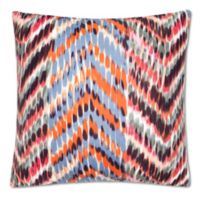 Zanzibar Herringbone Square Throw Pillow in Burgundy/Orange