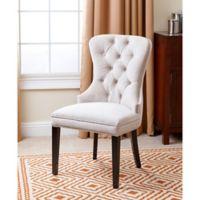 Abbyson Living Versailles Velvet Dining Chair in Ivory