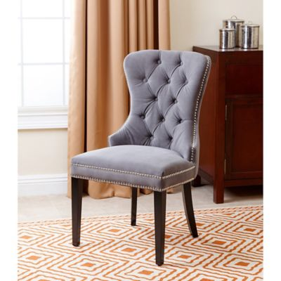 abbyson living versailles velvet dining chair in grey