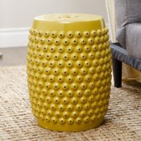 Abbyson Living® Sophia Pierced Ceramic Garden Stool in Yellow