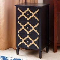 Abbyson Living® Shia End Table in Black/Gold