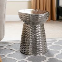 Abbyson Living® Madison Garden Stool in Silver