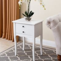 Abbyson Living Larsa End Table in White