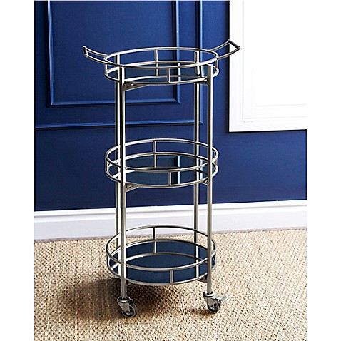 image of Abbyson Living® Marriot 3-Tier Round Bar Cart