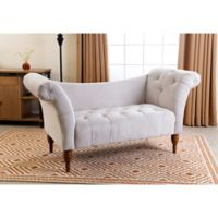 Abbyson Living Lucille Settee in Ivory