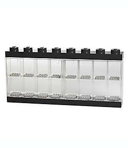 Vitrina de plástico LEGO® para 16 figuras color negro
