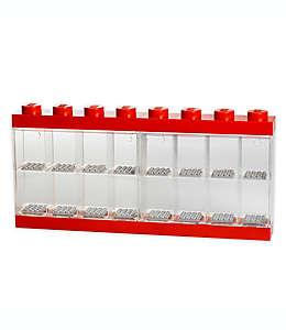 Vitrina de plástico LEGO® para 16 figuras color rojo