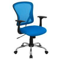 Flash Furniture Mesh Mid-Back Task Chair in Blue
