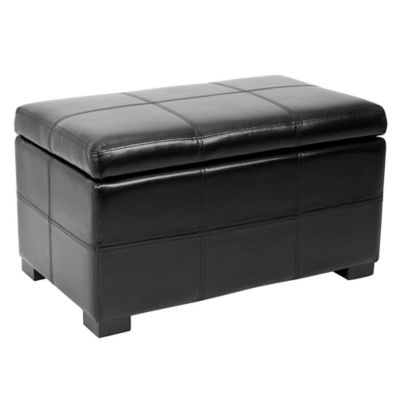 Beau Safavieh Madison Small Storage Ottoman In Black