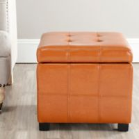 Safavieh Madison Square Tufted Ottoman in Saddle