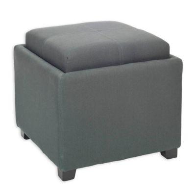 Safavieh Harrison Single Tray Storage Ottoman in Grey - Buy Grey Storage Ottoman From Bed Bath & Beyond