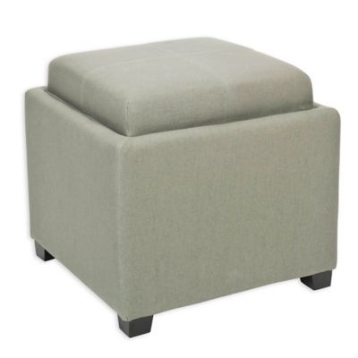 Safavieh Harrison Single Tray Storage Ottoman in Sea Mist - Buy Storage Ottoman Tray From Bed Bath & Beyond