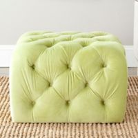 Safavieh Kenan Tufted Ottoman in Apple