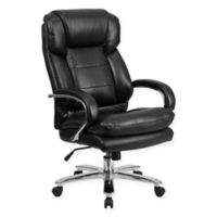 Flash Furniture 24/7 Intensive Use Faux Leather Chair in Black