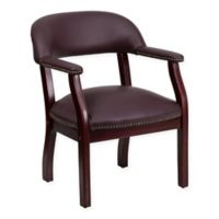 Flash Furniture Top Grain Faux Leather Conference Chair in Burgundy
