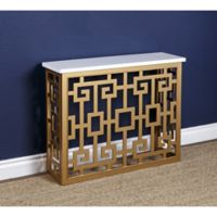 Abbyson Living® Marseille Sofa Table in Gold