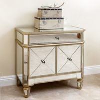 Abbyson Living® Alexis Mirrored Console Cabinet in Silver