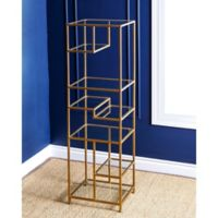 Abbyson Living® Rowley Glass Book Shelf in Gold