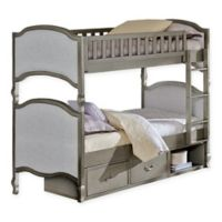 Hillsdale Furniture Kensington Victoria Twin/Twin Bunk Bed with Storage in Antique Silver