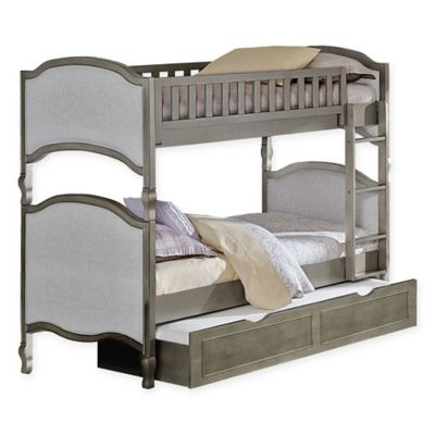 High Quality Hillsdale Furniture Kensington Victoria Twin/Twin Bunk Bed With Trundle In  Antique Silver
