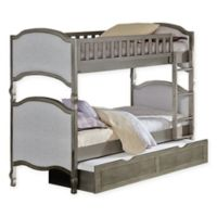Hillsdale Furniture Kensington Victoria Twin/Twin Bunk Bed with Trundle in Antique Silver