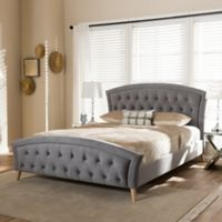 Baxton Studio Hannah Platform King Bed in Grey