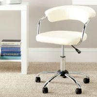 Safavieh Pier Desk Chair in Cream
