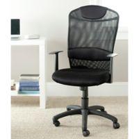 Safavieh Shane Desk Chair in Black