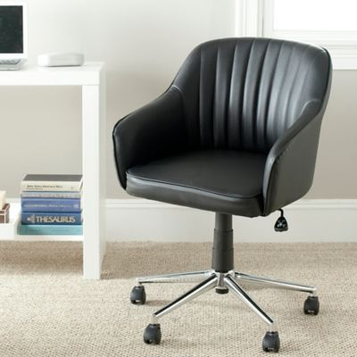 safavieh hilda desk chair in black - Rolling Chair