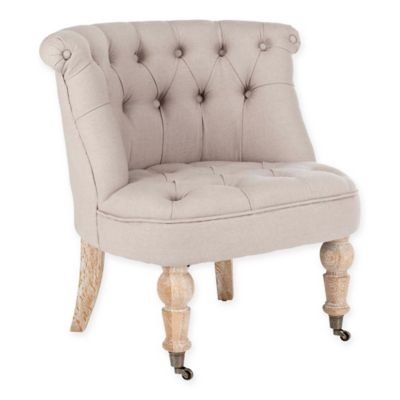 Safavieh Baby Tufted Accent Chair In Taupe