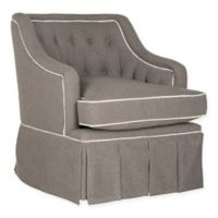 Safavieh Truitt Swivel Club Chair in Grey/White