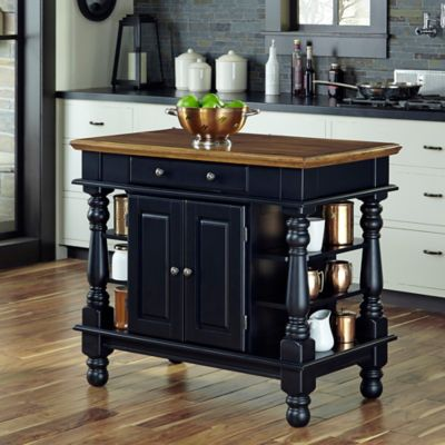 Home Styles Americana Kitchen Island In Black
