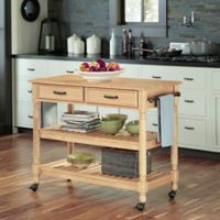 Home Styles Savannah Natural Kitchen Cart in Maple