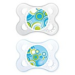 MAM Trends Age 0-6 Months Orthodontic Pacifier in Blue (Set of 2)