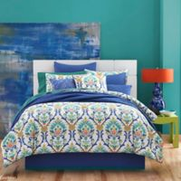 J by J. Queen New York Panama Caribbean Twin Comforter Set in Blue/White