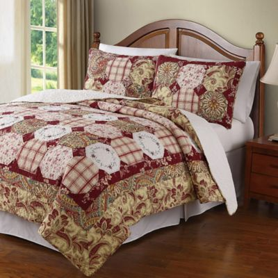 Easy Living Full/Queen Quilt Set In Red