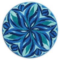 Grund Enjoyment Designer Mandala 48-Inch Round Bath and Accent Rug in Blue