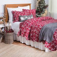 Silver Mistletoe Reversible Twin Quilt in Red/Grey