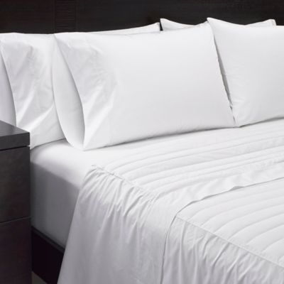 Sharper Image® Duck Down Queen Sheet Set In White