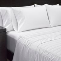 Sharper Image® Duck Down King Sheet Set in White
