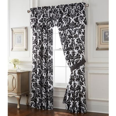 buy white and black window curtains from bed bath  beyond, Bedroom decor