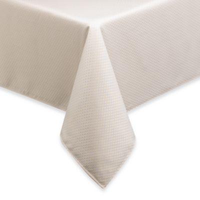 Merveilleux McKenna 70 Inch X 144 Inch Oblong Microfiber Tablecloth In Cream