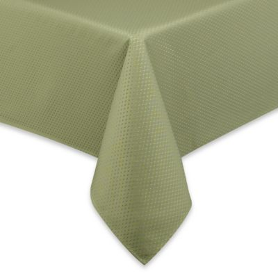 mckenna 90inch round microfiber tablecloth in green