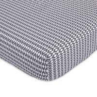 Petunia Pickle Bottom® Southwest Skies Fitted Crib Sheet in Grey/White
