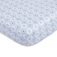 Petunia Pickle Bottom® Southwest Skies Jersey Fitted Crib Sheet in Grey/Blue
